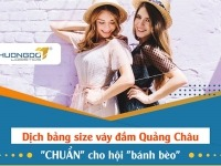 """Dịch bảng size váy đầm Quảng Châu """"CHUẨN"""" cho hội """"bánh bèo"""""""