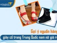 Giày cổ trang Trung Quốc nam nữ nguồn hàng Cosplay giá rẻ đa dạng