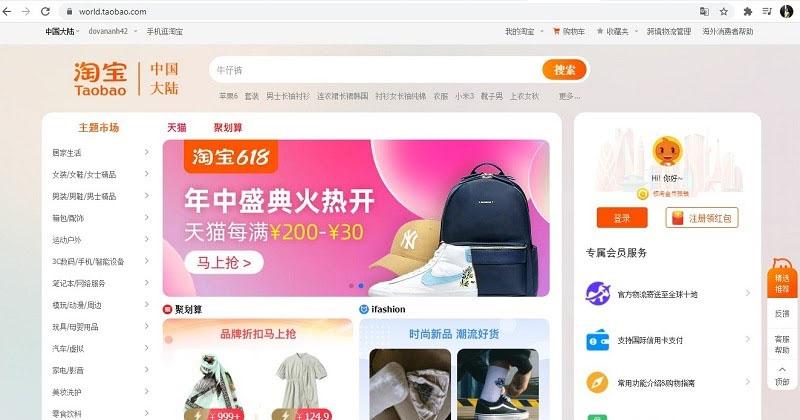 Mua hàng trên taobao nhanh gọn và đơn giản