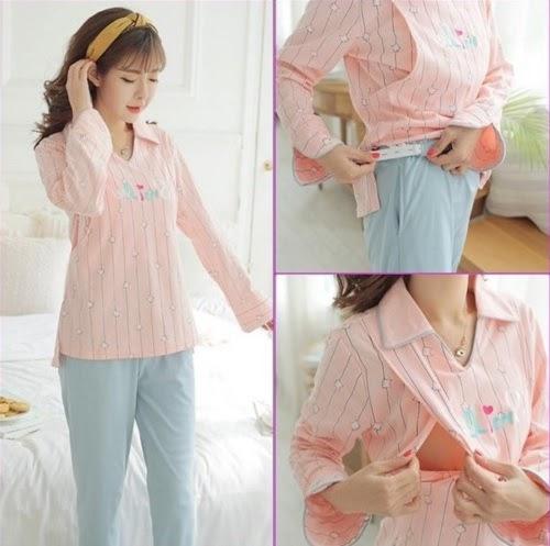 Thiết kế áo có thêm mở ngực giúp chị em dễ cho con bú và không bị lộ bụng