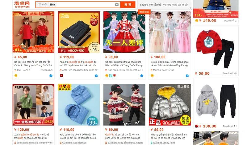 quần áo taobao là gì